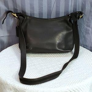 ❤ Coach vintage black leather crossbody